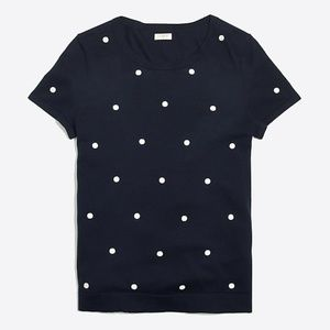 J Crew Polka dot Sweater - Navy & White - Size XXL